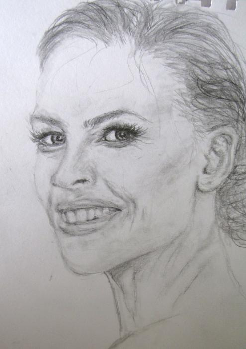 Hilary Swank by CinderFall